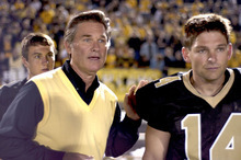 Brian Presley (right) plays a former high-school football star who gets a chance to relive his life -- and the big game with his coach (Kurt Russell) -- in the drama