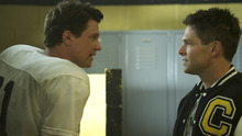 Brian Presley (right) plays a former high-school football star who gets a chance to relive his life -- and renew a rivalry with a fellow player (Mark Blucas) -- in the drama