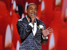 FILE - An April 4, 2012 file photo released by Fox, shows Joshua Ledet performing on the singing competition series