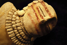 Photo courtesy Holly Andrews, Utah State University A team of scientists led by USU anthropologist Bonnie Pitblado is investigating whether this object, anonymously given to the university last year, is a long-lost Pilling figurine. One of the clay pieces from this priceless collection, held by USU-Eastern's Prehistoric Museum in Price, went missing years ago. Rancher Clarence Pilling discovered a trove of 11 figurines in Range Creek in 1950.