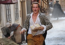 Alexander Fehling stars as the poet-to-be Johann Goethe in the period romance