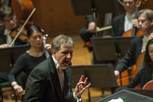 Chris Detrick     The Salt Lake Tribune Thierry Fischer conducts the Utah Symphony as they perform Wolfgang Amadeus Mozart's Concerto No. 26 in D Major for Piano and Orchestra, K.537,