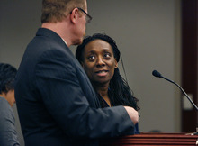 Tribune file photo           Nicola Irene Riley and her attorney Edwin Wall appeared at a hearing in January 2012 in Utah, after Maryland prosecutors accused her of murder in connection with a botched 2010 abortion there. The charges were dropped in March 2012.