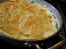 Lesli J. Neilson  |  The Salt Lake Tribune  Au gratin potatoes from scratch don't contain any possibly harmful ingredients such as sodium bisulfite, modified food starch, yellow No. 5 and yellow No. 6.