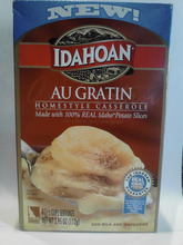 Lesli Neilson  |  The Salt Lake Tribune Idahoan Au Gratin Homestyle Casserole contains several unhealthy ingredients including: sodium bisulfite, yellow dye #5 and yellow dye #6, silicon dioxide and partially hydrogenated soybean oil.