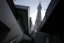 Itsuo Inouye  |  The Associated Press The Tokyo Sky Tree soarsTuesday  in Tokyo. The world's tallest freestanding broadcast structure that stands more than a third of a mile high will open to the public in May.