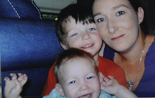 In this undated family snapshot Kala Marie Golden, right, is shown with her two sons. Golden was murdered and her 3-day-old baby abducted outside a pediatric clinic Tuesday, April 17, 2012 in Spring, Texas. Verna Deann McClain has been charged with capital murder and the baby was found and is now with relatives. (AP Photo/Schuchardt Family)