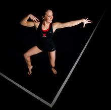 Trent Nelson     The Salt Lake Tribune Utah gymnast Stephanie McAllister on Tuesday, Jan. 24, 2012, in Salt Lake City.