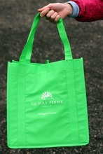 Rick Egan  | The Salt Lake Tribune   A re-usable shopping bag from the La Nay Ferme farm in Provo, which is Utah's newest CSA - community supported agriculture program. Sign-ups are under way for about 40 CSA programs in Utah.