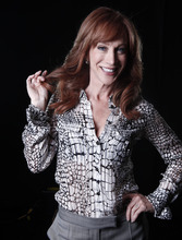 In this April 4, 2012 photo, comedian and Bravo TV personality Kathy Griffin poses for a portrait in New York.  Griffin's new weekly talk show on Bravo