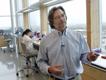 Al Hartmann  |  The Salt Lake Tribune USTAR analytical chemistry professor Marc Porter describes the interdisplinary approach to research that takes place in the James L. Sorenson Molecular Biotechnology Building, the University of Utah's new $130 million USTAR facility.