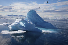 The melting of arctic ice, like this glacier in Svalbard, Norway, is spotlighted in the IMAX 3-D documentary