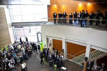 Utah Valley University celebrated the official opening its expanded science building on Friday, April 20, 2012. Credit: Laura Trinnaman, UVU