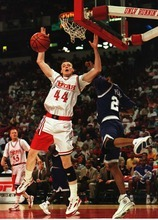 Tribune file photo Keith Van Horn, Utah's all-time leading scorer, will be inducted Monday into the school's Crimson Club Hall of Fame. The honor celebrates a four-year career during which Van Horn lost his father and became a father, among the events that forever shaped his life.