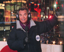 FILE - In this undated file photo released by ABC, Dick Clark hosts the New Year's eve special from New York's Times Square. Clark, the television host who helped bring rock `n' roll into the mainstream on