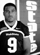 Trent Nelson  |  The Salt Lake Tribune Linebacker Bobby Wagner of the Utah State University football team, on media day at Romney Stadium in Logan, {utah}, Wednesday, August 10, 2011.