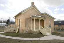 Paul Fraughton  |  The Salt Lake Tribune The Holladay City Council voted to move the historic Casto home to make way for a new fire station. An option to demolish the home was rejected.