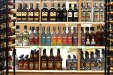 Rick Egan  | The Salt Lake Tribune   Liquor for a sale at the Utah State Liquor Store in Bountiful, Utah, Friday, April 6, 2012.