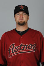 This is a 2012 photo of Brandon Lyon of the Houston Astros baseball team. This image reflects the Astros active roster as of Feb. 28, 2012, when this image was taken. (AP Photo/Julio Cortez)