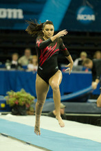 Kailah Delaney performs on the vault in the 2012 NCAA Championships in Duluth, Ga. Courtesy University of Utah