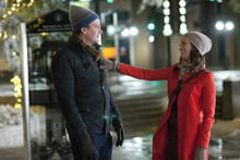 In this film image released by Universal Pictures, Jason Segel, left, and Emily Blunt are shown in a scene from