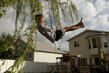 Trent Nelson  |  The Salt Lake Tribune Jack Wolfinger on a rope swing Thursday, April 26, 2012 in Ogden, Utah. After the CDC released new data on autism a few weeks ago, some experts are questioning the results. Jack was repeatedly labeled by teachers as possibly autistic, but last year a Utah psychologist said the symptoms were there but the diagnosis did not entirely fit.
