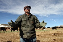 Rick Egan  | The Salt Lake Tribune   Wyoming rancher Albert Sommers discusses the sage grouse at his ranch, near Pinedale, Wyo., Wednesday, March 22, 2012.