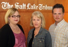 Rick Egan  | The Salt Lake Tribune Tribune reporters Melinda Rogers (left), Brooke Adams (middle), and Nate Carlisle (right) have been covering the Susan Powell case since the West Valley City woman disappeared from her home in 2009. They will be reviewing tip submissions to the Tribune's new