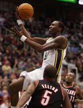 Tribune file photo Utah Jazz forward Josh Howard drives to the basket during a game against the Portland Trail Blazers in Salt Lake City on Wednesday, Dec. 21, 2011.