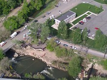 An aerial view of search Monday for a missing toddler in the Weber River. Courtesy Weber County Sheriff's Office