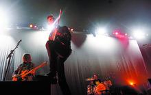 Kim Raff | The Salt Lake Tribune The Arctic Monkeys the opening act for the Black Keys, play at the Maverick Center in Salt Lake City, Utah on Tuesday.