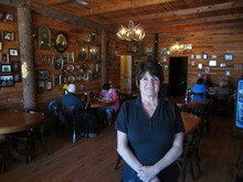 Donald W. Meyers  |  The Salt Lake Tribune Leslie Broadhead, owner of Leslie's Family Tree in Santaquin, in her restaurant. Smith's business has a local reputation for being haunted and is being featured on the Travel Channel's