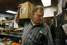 Scott Sommerdorf  |  The Salt Lake Tribune              Morgan Valley Lamb owner Jamie Gillmor makes a delivery to the kitchen of Bistro 258 in Ogden. Morgan Valley Lamb, in business since 2001, is closing down its operations. After three generations of sheep ranchers, the extended family has decided to sell off all of its grazing lands in northern Utah.