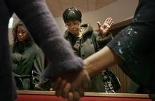 Scott Sommerdorf  |  Salt Lake Tribune Emma Houston worships at Calvary Baptist Church in 2010. Utah has a number of black churches, according to the latest Religion Census.