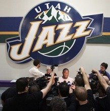 Rick Egan  | The Salt Lake Tribune   Utah Jazz head coach Tyrone Corbin talks to reporters before practice at the Utah Jazz practice facility, Friday, May 4, 2012.