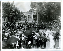 Tribune File Photo This undated photo shows a parade held for Utah soldiers upon their return from the Philippines after the Spanish-American War. The bare-headed man riding a horse near the center of the photo is Brigadier General Richard Whitehead Young, grandson of Brigham Young. The photo was taken on South Temple near 300 West in Salt Lake City.