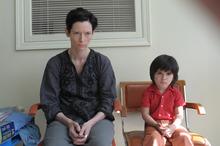 Courtesy photo Eva (Tilda Swinton, left) deals with a problem child (Rocky Duer) in the drama