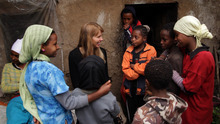 Courtesy photo Activist Beth Osnes meets women in Ethiopia, in a moment from the documentary