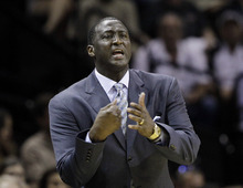 Utah Jazz coach Tyrone Corbin, down 0-2 to the Spurs, will try to find a way to get his players back on the winning track in Game 3 of a first-round NBA basketball playoff series Saturday night in Salt Lake City. (AP Photo)