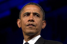 FILE - In this May 8, 2012 file photo, President Barack Obama speaks in Washington. President Barack Obama faced mounting pressure Wednesday to express support for same-sex marriage after a setback for gay-rights advocates in North Carolina. (AP Photo/Carolyn Kaster, File)
