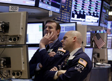 (AP Photo/Richard Drew) The spring decline has become a motif on Wall Street. In 2010 and 2011, the Dow climbed in the first three months of the year, then flat-lined or lost ground as events overseas overshadowed modest economic growth in the U.S