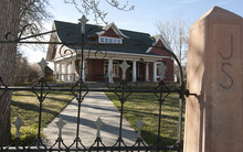 Leah Hogsten  |  The Salt Lake Tribune Smedley Manor in Bountiful closed recently and the centuries-old house is up for sale.