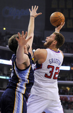 Mark J. Terrill | The Associated Press Clippers forward Blake Griffin, right, shoots against Memphis' center Marc Gasol. The Grizzlies defeated Los Angeles to force a Game 7.