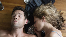 Thirtysomethings Neil (Todd Grinnell, left) and Sarah (Ali Hillis) try to return to their old apartment in the comedy