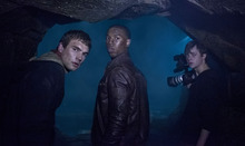 In this film image released by 20th Century Fox, from left, Alex Russell, Michael B. Jordan, and Dane DeHaan are shown in a scene from
