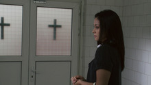 Fernanda Andrade playas Isabella Rossi, a woman who gets involved with exorcisms, in the horror movie
