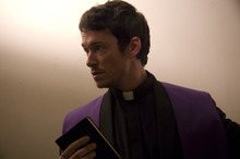 Simon Quarterman plays Father Ben Rawlings in the horror movie