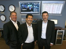 Rick Egan  | The Salt Lake Tribune    L-R Ryan Gibbons, Al Manbeian, and Jason Langston are the managing partners of GPS Capital Markets in South Jordan, Thursday, March 1, 2012.  In 10 years, the firm has grown to a player in the industry of helping businesses with foreign currency transactions.