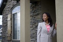 Kim Raff | The Salt Lake Tribune Mia Love is in the 4th Congressional race with Jim Matheson.  She is photographed in her home in Saratoga Springs, Utah on May 4, 2012.