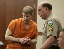 Matthew David Stewart appears in the Second District Court in Ogden on Monday, May 14, 2012. Stewart is accused of shooting at police officers during the serving of a search warrant, killing one officer and injuring several others. (MATTHEW ARDEN HATFIELD)